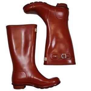 Red Hunter Tall Kids Boots Sz3